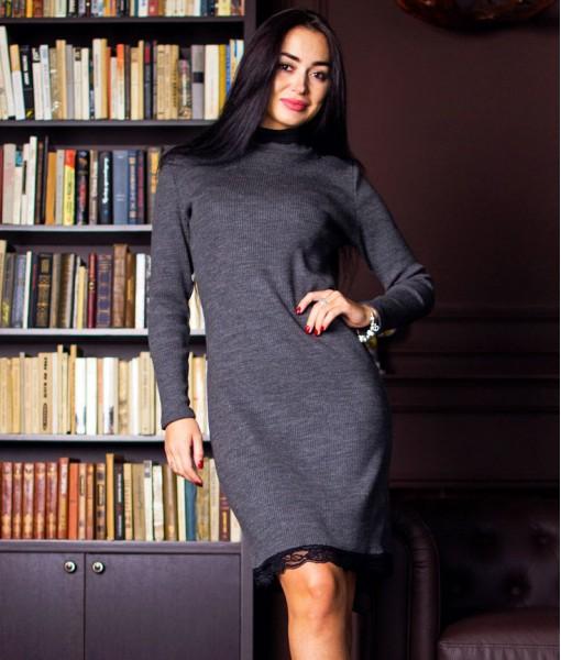Платье Д458 (серое)