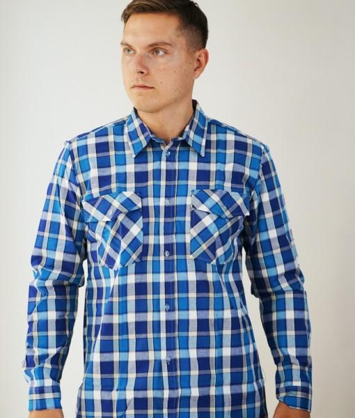 Рубашка К2 (сине-голубая клетка)